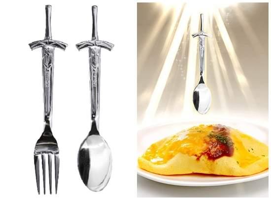 对饭宝具《Saber誓约胜利之剑汤匙叉子组》用Ex咖哩棒吃Ex咖哩饭 - 图片5